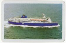 Playing Cards 1 Single Swap Card - Vintage P&O Shipping CRUISE LINER Ship