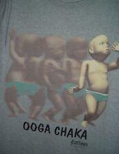 OOGA CHAKA DANCING BABY Gray T SHIRT 1998 Kinetix Viral Video ChaCha One Size