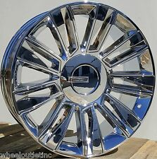 "24"" Chrome Wheels OE Platinum Style Rims Tires Fit Cadillac Escalade EXT ESV GMC"