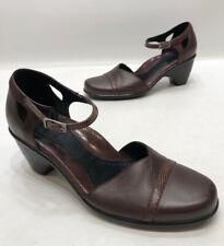 Dansko Brown Leather Ankle Strap Heels Comfort Womens Size 38