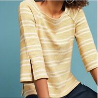 Anthropologie Postmark Striped Flare Sleeve Top Size Small Pullover Square Neck