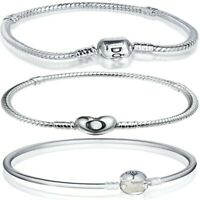 Classical Silver Bracelet Bangle Snake Chain FOR European silver Charm Bead