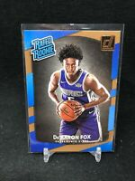De'Aaron Fox RC 2017-18 Panini Donruss Rated Rookie #196 Pack Fresh RC W14