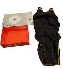 Female Girls Speedo Fastskin LZR Racer Pro Black/gold Size 32 New