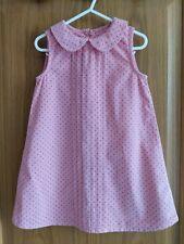 Beautiful Mothercare Girls Dress Age 2-3 Pink Spotty Polka Dot Casual Smart