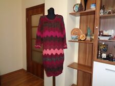 MISSONI FOR LINDEX MULTICOLORED CHEVRON PRINT METALLIC THREADS JUMPER DRESS-XS