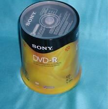 "SONY DVD-R 4.7GB 100Pk 120min 4.7GB 16X Optical Media ""Factory New"" Great Find!!"