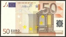 2002  €50 Euro ( Germany ) Mario Draghi's Signed  Ending Matching 4444 UNC#P17x