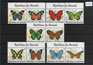 SMT, BURUNDI Butterflies set of ten stamps, in se tenant paires, CV € 170++, MNH