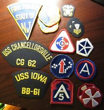 Lot of 15 Military and Police Patches - Navy Army