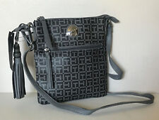 NEW! TOMMY HILFIGER GRAY MESSENGER CROSSBODY SLING BAG PURSE $69 SALE