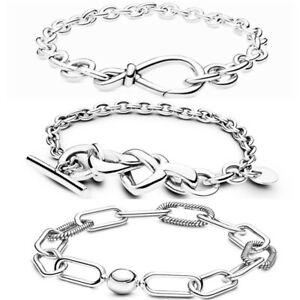 Fashion s925 Silver Bracelet Bangle Snake Chain European silver Charm Woman Gift