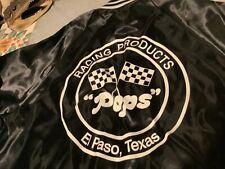 RARE VINTAGE SATIN NYLON JACKET L POPS RACING PRODUCTS EL PASO TX NAME TERRY USA