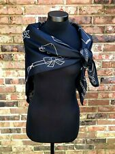 """TANNER Silk Scarf Black with Evening Accessories Theme 42"""", Purse Jewelry Gloves"""