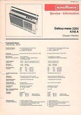 NORDMENDE - Galaxy mesa 2202 4.110 A - Service Information Schaltbild - B3130