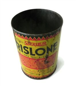 VINTAGE RISLONE SHALER ONE QUART GAS STATION OIL CAN