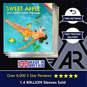 """10 LP Album 12"""" 450g Plastic Polythene Record Sleeves - Outer Vinyl Covers"""