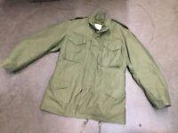 Vintage 1960s OG-107 M65 Field Jacket DSA 100-68-C-0471 Long Medium w/ Liner