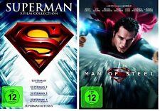 Man of Steel + Superman - Die Spielfilm Collection Teil 1+2+3+4+Returns auf DVD
