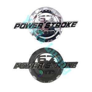 6.7L B20 Power Stroke Turbo Diesel ABS Door Emblem for F-250 350 450 550