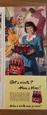 1949 Hires Racine Bière en Carton et sur Plateau de Service Vintage Soda Annonce
