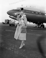 8x10 Print Leslie Caron Airport Candid 1958 #833