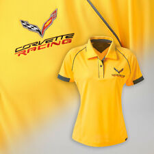 2014-2019 C7 Womens Hi Cool Polo Shirt with Corvette Racing Logo 637629