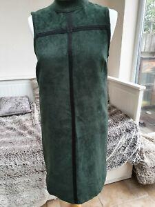 **UNIQUE** Faux Suede Topshop Dress - Size 10 - in excellent condition