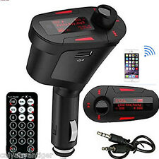 Universal Car FM Radio Transmitter USB SD MMC Card Slot Music MP3 Player+ Remote