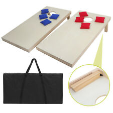 4x2FT Outdoor Yard Party Wooden Cornhole Game Playset Bean Bag Toss W/Carry Case