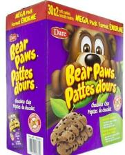 MASSIVE BOX CANADIAN Dare Bear Paws Cookies - Chocolate Chip - 1.44kg 3.18 Lbs