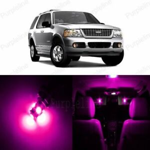 13 x Pink LED Interior Light Package For 2002 - 2010 Ford Explorer + PRY TOOL