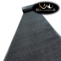 Hall Runners DOOR MATS VERONA black Heavy Duty Non-Slip Rubber width 120 cm