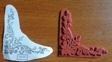 "RARE Teesha Moore Zettiology ""CIRCUS BORDER"" Unmounted Art Journal Rubber Stamp"