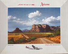 TWA ARIZONA OAK CREEK CANYON 1955 Vintage Travel poster 25x35 AIRLINES Not Repro