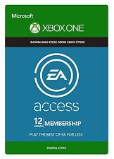 EA Access 12 month Membership Digital Codes for (Xbox One/360) Fast Delivery
