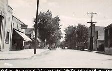 Sellersburg IN~State Bank~Co-Op Bldg~ Coca-Cola Signs~Garbage Truck? 1940s RPPC