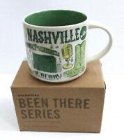 Starbucks Coffee 14oz Been There Series Mug Nashville Tennessee Cup NIB w/SKU