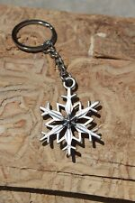 Hastings Pewter Co Lead Free Pewter Snowflake Keychain gift winter metal - NEW