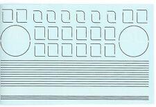MODELMASTER 4083 blanc/noir doublure Autocollants/TRANSFERTS POUR LNER Vert
