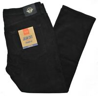 Dockers #10182 NEW Men's Black Stretch Straight Fit Jean Cut Corduroy Pants