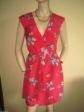 Silk V-Neck Midi Wrap Dresses
