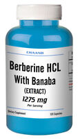 Berberine HCL with BANABA Extract 1275mg BIG BOTTLE 120 CAPSULES USA SHIP =SALE=