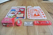 Vintage 1990s Sanrio / Hello Kitty Bundle- MoneyBox,Pencil Case,Tin,Carrier Bags