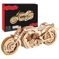 3D Wooden Puzzle Motorbike Model Kit DIY Assembly Motorcycle Mechanical Wood Toy