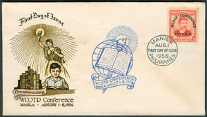 1956 Phil WORLD CONFEDERATION Of ORGANIZATIONS Of The TEACHING PROFESSION FDC