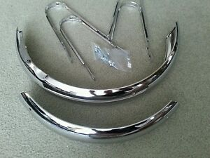 """NEW CHROME FENDER SET FOR 16"""" BICYCLES,WITH HARDWARE,SCHWINNS, PIXIE"""