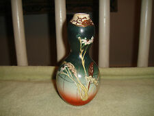 Antique Chinese Pottery Gourd Shaped Snuff Bottle Vase-Butterflies & Flowers-WOW