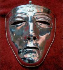 Roman silvered face mask from Teutoburg Forest Kalkriese Varus Arminius Hermann