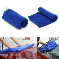 60* 160 cm Large Blue Microfiber Towel for Car Drying Cleaning Waxing Polishing